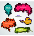 Multicolored floral speech bubbles vector image