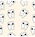 seamless texture Healthy Teeth Dental vector image