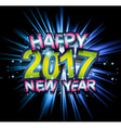 2017 Happy New Year Club Party Background for your vector image