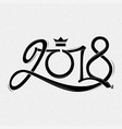 2018 happy new year year of a yellow dog on a vector image