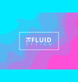 abstract blue and pink fluid design background vector image
