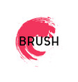 abstract brush element graphic design template vector image
