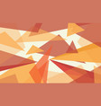 abstract color orange design background vector image