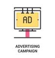 advertising campaign icon concept vector image vector image