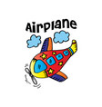 airplane-cartoon for shirt design vector image