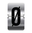 Alphabet silver flipboard letters oe vector image vector image