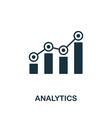 analytics icon symbol creative sign from seo and vector image vector image