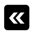arrow icon flat design style vector image vector image