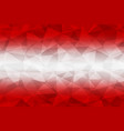 austria flag polygonal vector image vector image