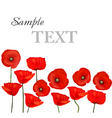 Background with red poppies vector | Price: 1 Credit (USD $1)