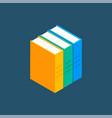 book isometric stack school vector image vector image
