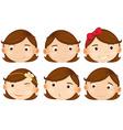 Brown hair girl vector image