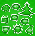 Christmas speech bubles set various shapes vector image vector image