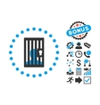 Closed Prisoner Flat Icon with Bonus vector image vector image