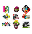 collection of paper geometric infographics a b c vector image vector image