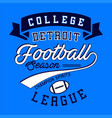 college football league vector image vector image