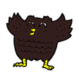 comic cartoon black bird vector image