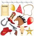 cowboy birthday party clip art vector image vector image