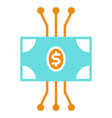 cryptocurrency banknote icon minimal pictogram vector image vector image