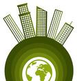 Ecolo city design vector image vector image