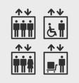 elevators icons vector image