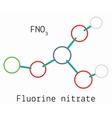 Fluorine nitrate FNO3 molecule vector image vector image