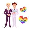 Gay wedding vector image