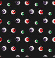 halloween scary pattern redgreenpurple eyes vector image