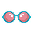 hippie fashion glasses vector image vector image