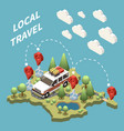 local travel concept vector image