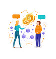 making investments for bitcoin vector image