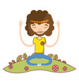 man meditation and relaxing icon vector image vector image