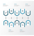 medicine outline icons set collection of vector image