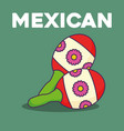 mexican maracas design vector image