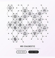 mri diagnostics concept in honeycombs vector image vector image