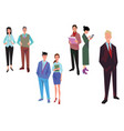 office workers manager and team vector image vector image
