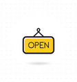 open sign icon vector image vector image