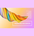 orange digital painting abstract background vector image