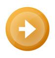 orange round button with next arrow symbol vector image vector image