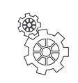 pictogram gear wheel engine machine icon vector image