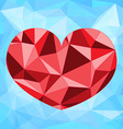 Polygonal heart design vector image vector image