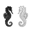 polygonal seahorse vector image