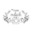 positive attitude message with hand made font vector image