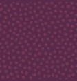 purple and pink cute cat paw print silhouettes vector image vector image
