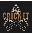 Retro cricket emblem design Cricket logo icon vector image vector image