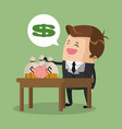 rich businessman with money vector image