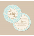 round card vector image vector image