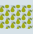 seamless pattern fruit pear vector image vector image