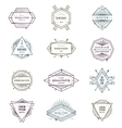 set grunge hipster signs and emblems vector image vector image