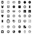 Set of Clock Icon Symbol vector image vector image